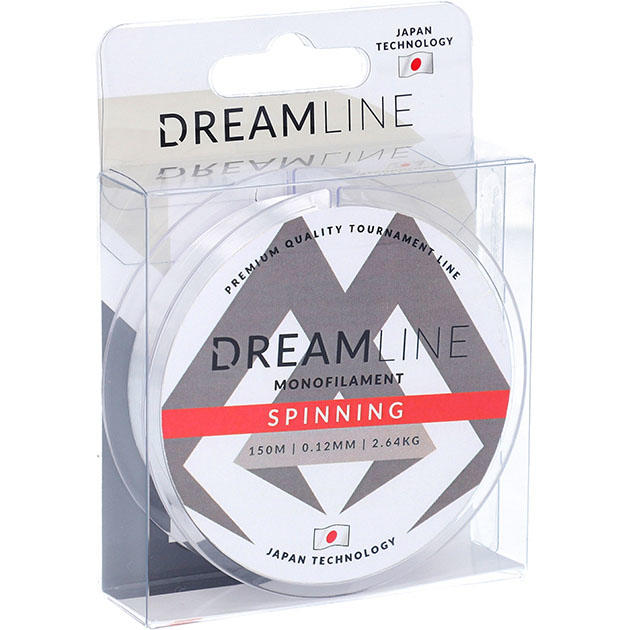 Леска мононить Mikado DREAMLINE SPINNING (CLEAR) - 0.28 (150 м) - 9.89 кг.
