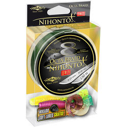 Плетеный шнур Mikado NIHONTO OCTA BRAID 0,30 green (150 м) - 29.90 кг., шт