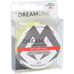 Леска мононить Mikado DREAMLINE SPINNING (YELLOW) - 0.18 (150 м) - 4.79 кг.