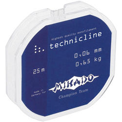 Леска мононить Mikado TECHNICLINE 0,08 (25 м) - 0.95 кг.