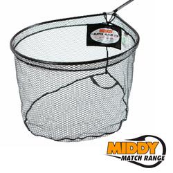 "20337 сетка для подсачека MIDDY Match Black Ltx 22""/55см Curved/Spoon Net"