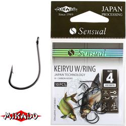 Крючки Mikado SENSUAL - KEIRYU W/RING № 4 BN (с ушком) уп.=10 шт.