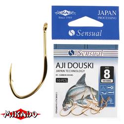 Крючки Mikado SENSUAL - AJI DOUSKI W/RING №  6 G (с ушком) уп.=10 шт.