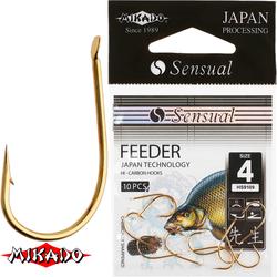 Крючки Mikado SENSUAL - FEEDER № 14 BN (с лопаткой) уп.=10 шт.