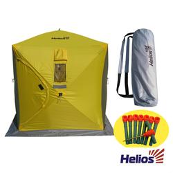 Палатка зимняя куб 1,5х1,5 (3желтый/2серый) Helios