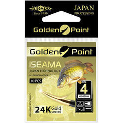 Крючки Mikado GOLDEN POINT - ISEAMA № 10 GB (с лопаткой) ( 10 шт.)