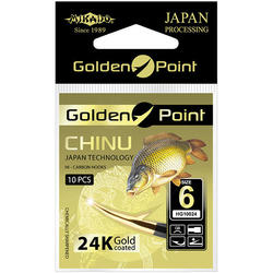 Крючки Mikado GOLDEN POINT - CHINU № 10 GB (с лопаткой) ( 10 шт.)