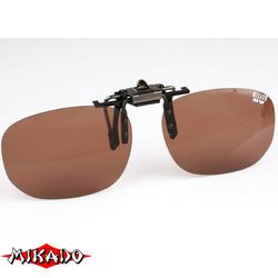 """Насадка на очки поляризационная """"Mikado"""" CPON-BR (коричневые линзы)"""