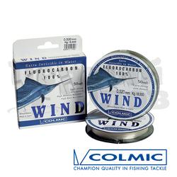 Леска COLMIC WIND 50mt - 0,185mm флюорокарбон (КUREHA)-3,2кг