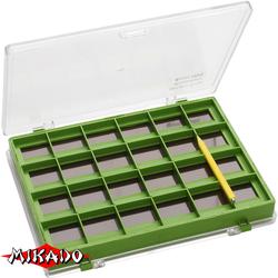 Коробочка рыболовная Mikado для крючков UABM-MBOX01(14.5 x 10.5 x 2 см.) магнитная