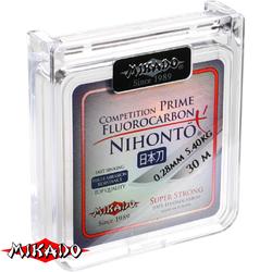 Леска мононить Mikado NIHONTO FLUOROCARBON PRIME 0,12 (30 м) - 1.32 кг. (квадратная шпуля)
