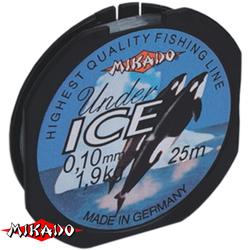 Леска мононить Mikado UNDER ICE 0,08 (25 м) - 1.20 кг.