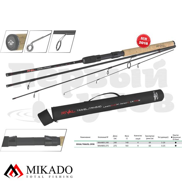 Спиннинг штекерный Mikado RIVAL TRAVEL Spin 240 (тест 5-20 г)